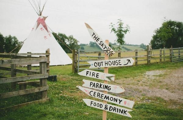 Festival bruiloft