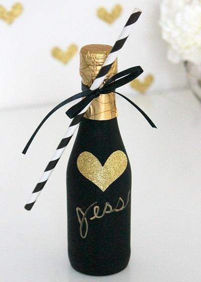 Champagne gastenbedankjes