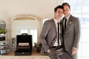 Homohuwelijk twee bruidegommen
