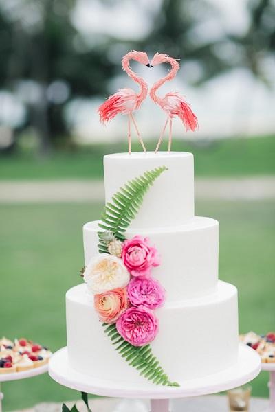 Flamingo bruidstaart