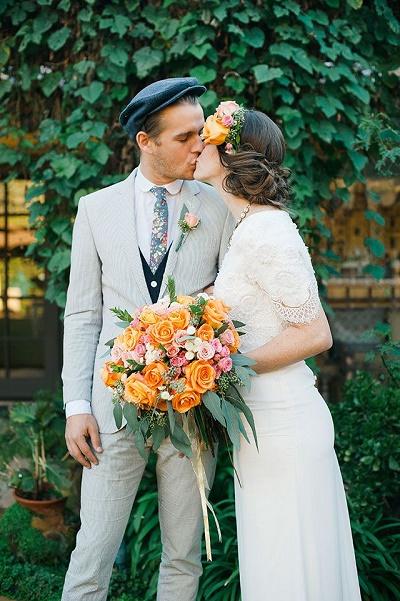 Bruidegom met hoed