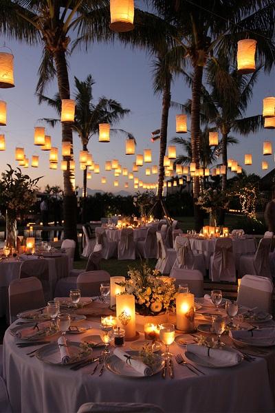 Lampionnen met lichtjes