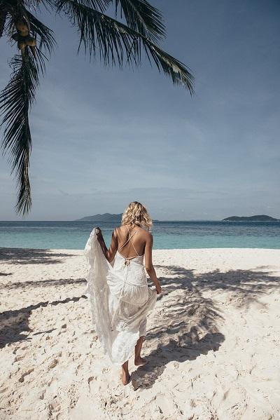 Strand trouwjurken