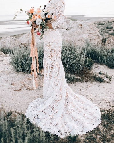 Strand trouwjurk