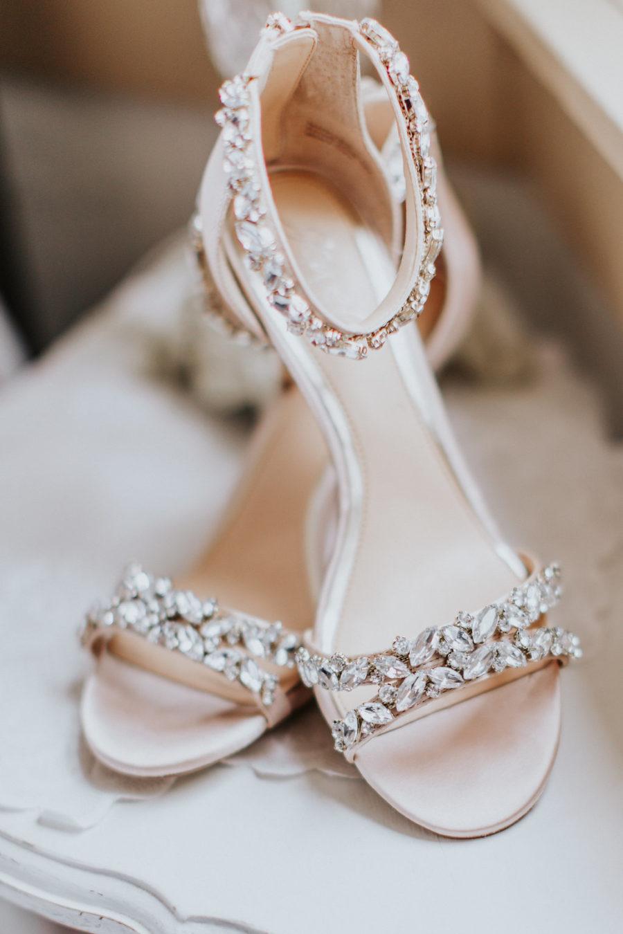 Platte trouwschoenen met steentjes