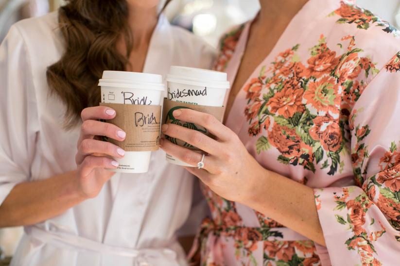 Bruid met beste vriendin