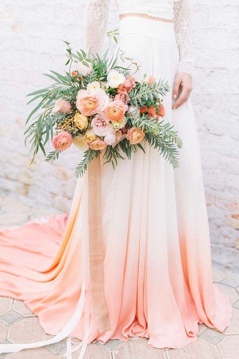 Bruid wit met roze