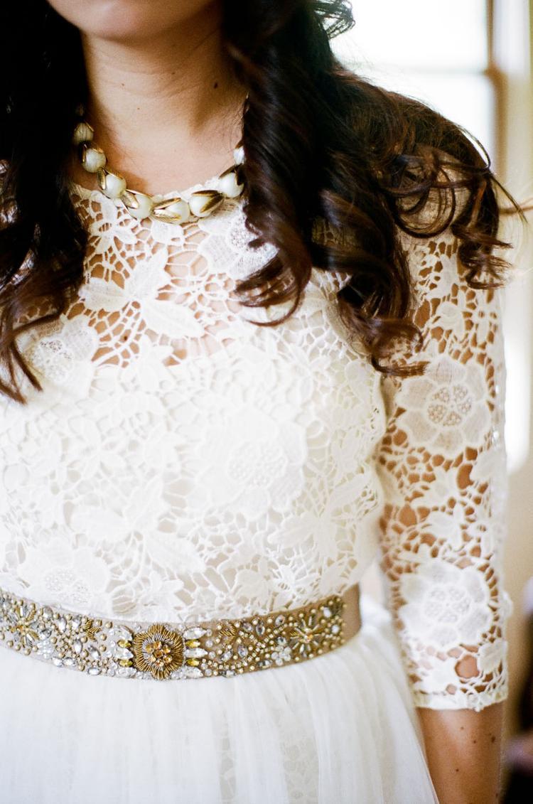 Bruid met bruidsriem