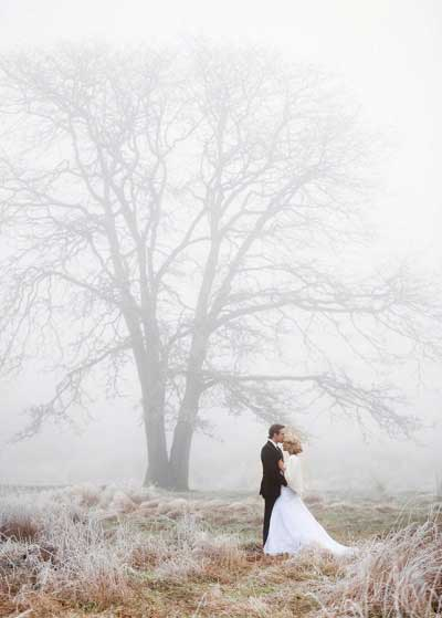 Winter fotoshoot met mist