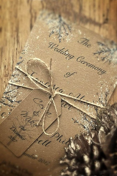 Kerst trouwkaarten