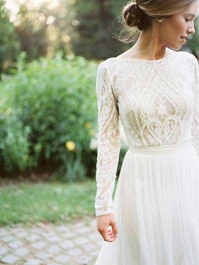 Zeer Drie redenen om te kiezen voor een trouwjurk met lange mouwen @YM25