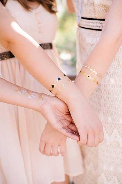 Tijdelijke tatoeages bruiloft