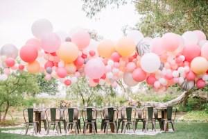 Ballonnen als bruiloft decoratie