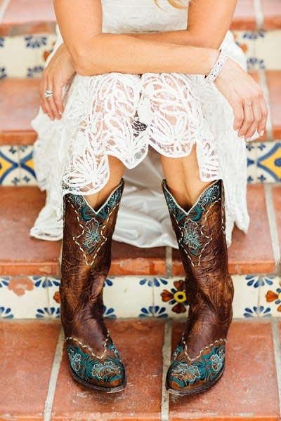 Cowboylaarzen bruid