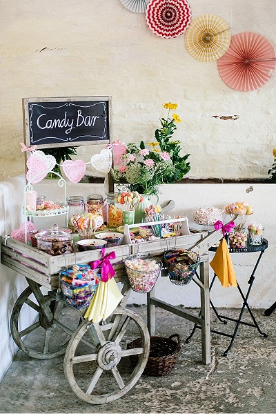 Candybar op vintage kar