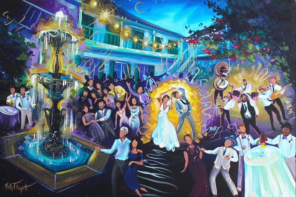 Live painting regelen als ceremoniemeester op de bruiloft