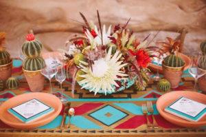 Azteken print als bruiloft thema