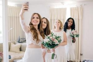 Bruiloft selfie