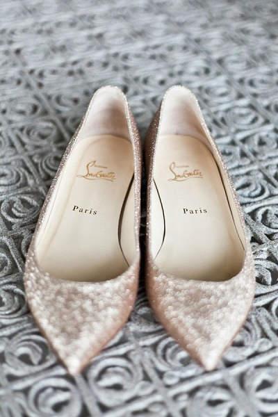Ballerina trouwschoenen