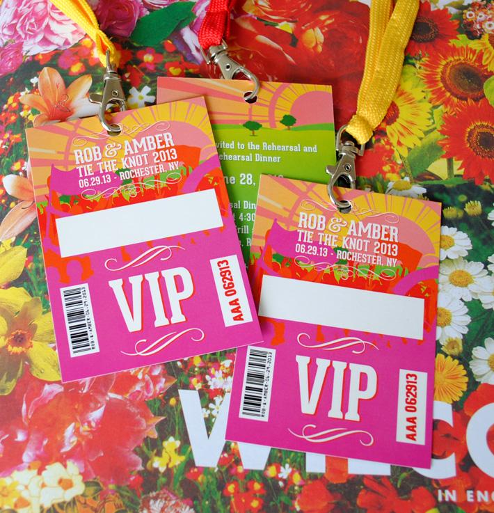 Bruiloft uitnodigingen festival