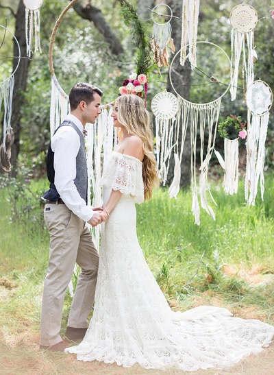 Bohemian bruiloft hoepels