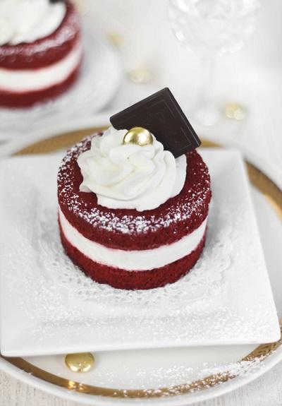 Red velvet mini taartje