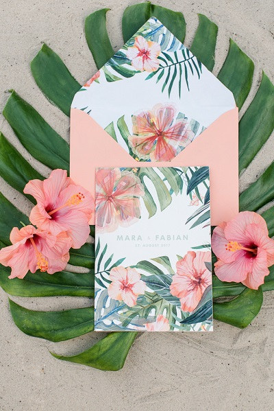 Tropical trouwuitnodiging