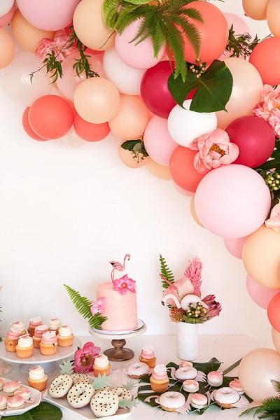 Tropical bruiloft buffet