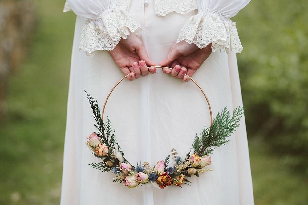 Alternatief bruidsboeket voor de bruid