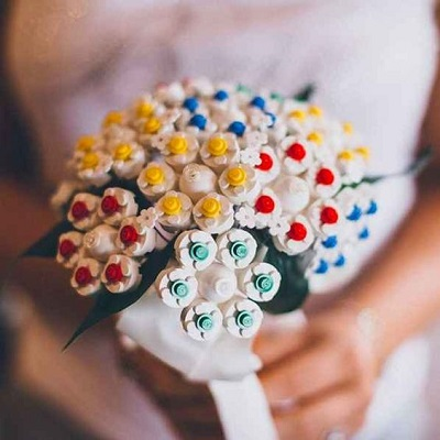 Bruidsboeket van lego
