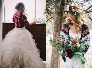 Twee bruiden met vestje