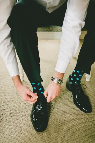 Sokken bruidegom met een patroontje