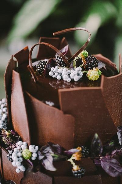 Chocolade bruidstaart
