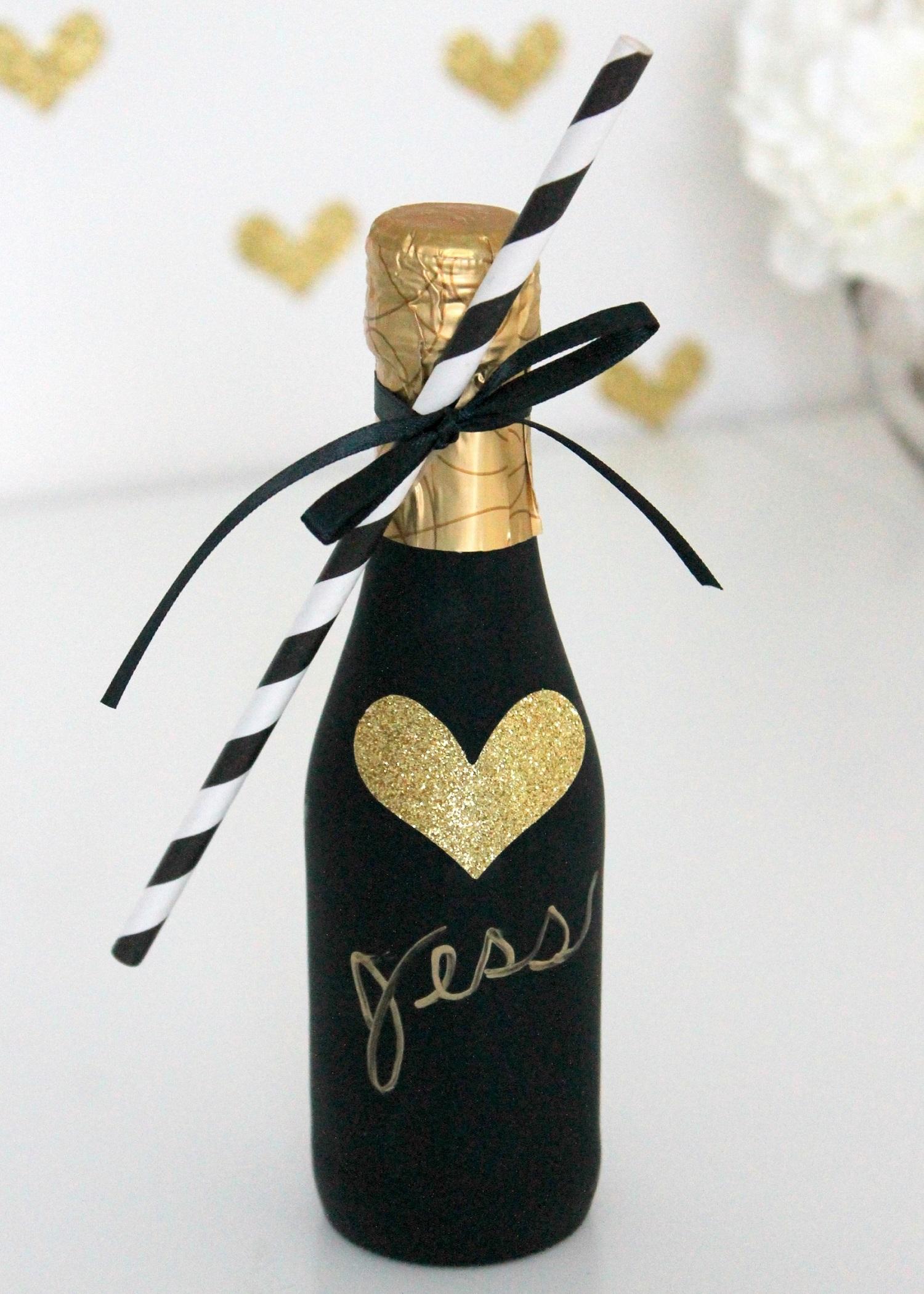 Mini champagne als gastenbedankje