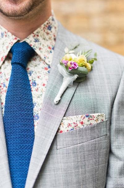 Bruidegom met overhemd met patroontje