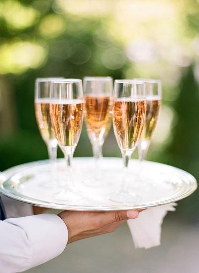 Champagne op receptie