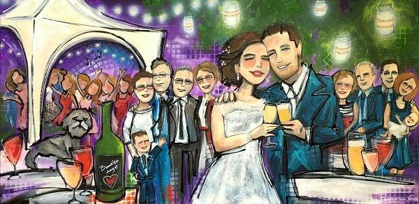 Live paint op bruiloft