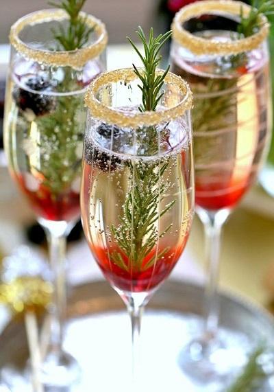 Champagne met vruchtjes