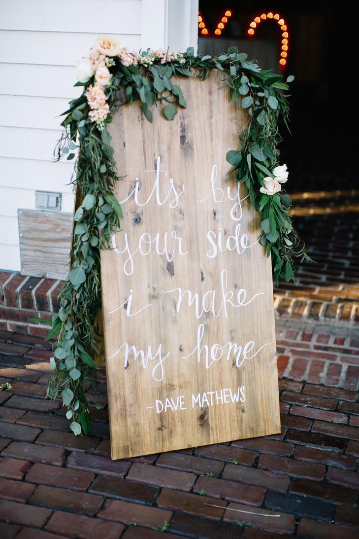 Huwelijk quote op een houten bord