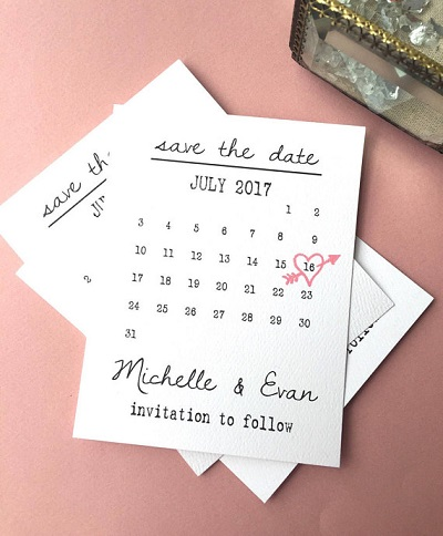 Save the date met trouwdatum