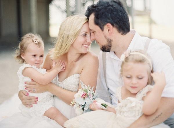 Geloften hernieuwen met hele gezin