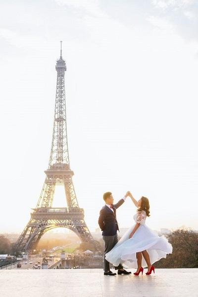 Verlovingsshoot in Parijs