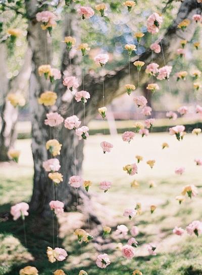Bloemen als backdrop