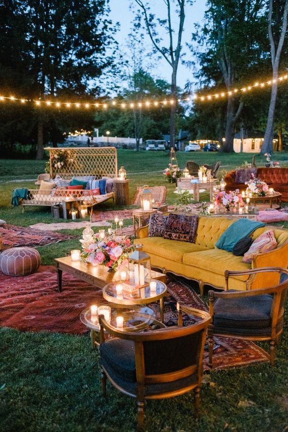 Bruiloft weekend op festival terrein