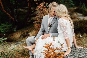 Foto´s van bruidspaar