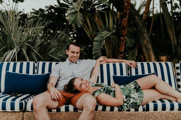 Stel tijdens de honeymoon