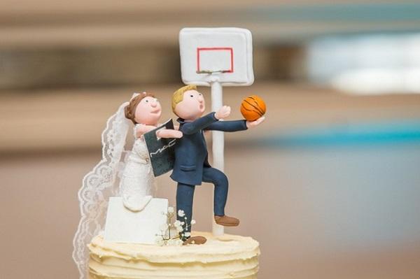 Persoonlijke taarttopper bruidspaar