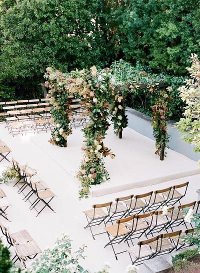 Ceremonie indeling vierkant