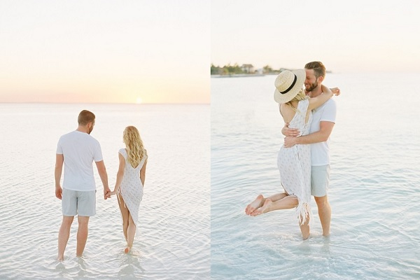 Stel op huwelijksreis