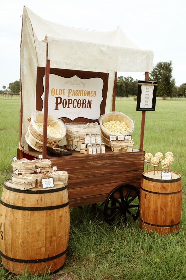 Popcorn midnight snack bruiloft